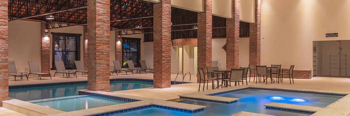 Piscina aquecida do Recanto Alvorada Eco Resort